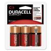 Duracell Quantum Alkaline Batteries, C, 3/PK DUR QUC3RFPPK