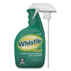cleaning chemicals, brushes, hand wipers, sponges, squeegees: Whistle Professional Multi-Purpose Cleaner With Ammonia, 32 oz, Fresh, 4/CT