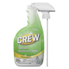 cleaning chemicals, brushes, hand wipers, sponges, squeegees: Crew Bathroom Disinfectant Cleaner, Floral Scent, 32 oz Spray Bottle, 4/CT