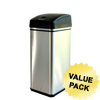 iTouchless Deodorizer Filtered 13 Gallon Stainless Steel Touchless Trash Can ITO DZT13PCS