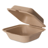 Eco-Products Eco-Products® Wheat Straw Hinged Clamshell Containers ECO EPHCW6