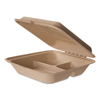 Eco-Products Eco-Products® Wheat Straw Hinged Clamshell Containers ECO EPHCW93