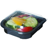 Carryout Containers Plastic Containers: Blue Stripe Premium Take-Out Containers