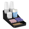 condiment organizer: Mind Reader Trove 7-Compartment Coffee Condiment Organizer