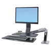 computer workstations: Ergotron® WorkFit-A Sit-Stand Workstation with Worksurface+