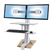 computer workstations: Ergotron® WorkFit-S Sit-Stand Workstation with Worksurface+