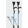 Ergoactives Ergobaum 7G Shock Absorber Forearm Crutches, 1 Pair, Royal Blue (5 to 66) ERX A003