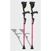 Ergoactives Ergobaum 7G Shock Absorber Forearm Crutches, 1 Pair, Pink (5 to 66) ERX A004
