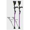 Ergoactives Ergobaum 7G Shock Absorber Forearm Crutches, 1 Pair, Purple (5 to 66) ERX A006