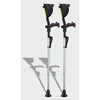 Ergoactives Ergobaum 7G Shock Absorber Forearm Crutches, 1 Pair, Gray (5 to 66) ERX A007