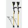 Ergoactives Ergobaum 7G Shock Absorber Forearm Crutches, 1 Pair, Gold (5 to 66) ERX A008