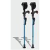 Ergoactives Ergobaum Junior Forearm Crutches 1 Pair - Blue (39 to 5) ERX A009