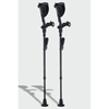 Ergoactives Ergobaum Black Mamba Carbon Fiber Crutches 1 Pair- Real Carbon Fiber(5 to 66) ERX A021