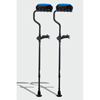 Ergoactives Ergobaum Dual Underarm Double Shock Absorber Crutches 1 Pair- Black (5 to 66) ERX A037
