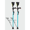 Ergoactives Ergobaum 7G Shock Absorber Forearm Crutches, 1 Pair, Aqua Blue (5 to 66) ERX A047