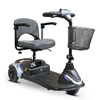 ewheel: EWheels - (EW-M40) 3-Wheel Portable Travel Scooter, Silver/Blue