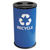 Recycling Containers: Ex-Cell Round Three-Compartment Recycling Container