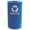 Ex-Cell Ex-Cell Round Indoor-Outdoor Recycling Container EXC RC33RBL