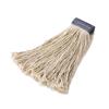 Rubbermaid Commercial Non-Launderable Premium Cut-End Cotton Wet Mop Heads RCPF158WHI