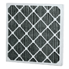 Air and HVAC Filters: Flanders - FCP Carbon Pleat - 20x24x4, MERV Rating : 7