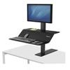 "computer workstations: Lotus VE Sit-Stand Workstation, 32.31"" x 25.25"" x 22.35"", Black"
