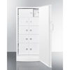 Summit Appliance Accucold Medical® 10.1 CU FT Medical All-Refrigerator with Nine Interior Locking Compartments SMA FFAR10LOCKER