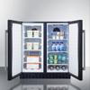 summit appliance: Summit Appliance - Frost-Free Side-By-Side Refrigerator-Freezer for Built-In or Freestanding Use, Black Finish with Locks, Stainless Steel Handles & Digital Controls
