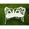 Benches Metal Benches: FlowerHouse - Butterfly Bench White