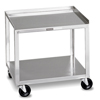 Fabrication Enterprises Mobile Stand - Stainless Steel - 2-Shelf FNT 00-4002