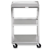 Fabrication Enterprises Mobile Stand - Stainless Steel - 3-Shelf FNT 00-4004