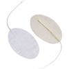 """Electrotherapy Electrodes: Fabrication Enterprises - Dura-Stick® Premium Electrode, 3"""" x 5"""" Oval, Stainless Steel Mesh, 20/Pack"""