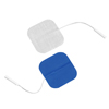 "Electrotherapy Electrodes: Fabrication Enterprises - Dura-Stick® Premium Electrode, 2"" Square, Stainless Steel Mesh, Blue Gel, 40/Case"