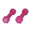 Rehabilitation: Fabrication Enterprises - CanDo® Vinyl Coated Dumbbell - 1 lb. - Pink, Pair