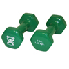 Rehabilitation: Fabrication Enterprises - CanDo® Vinyl Coated Dumbbell - 3 lb. - Green, Pair