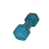 Rehabilitation: Fabrication Enterprises - CanDo® Vinyl Coated Dumbbell - 4 lb. - Light Blue, Each