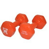 Rehabilitation: Fabrication Enterprises - CanDo® Vinyl Coated Dumbbell - 10 lb. - Orange, Pair