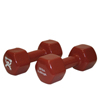 Rehabilitation: Fabrication Enterprises - CanDo® Vinyl Coated Dumbbell - 20 lb. - Brown, Pair