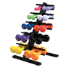Rehabilitation: Fabrication Enterprises - CanDo® Vinyl Coated Dumbbell - 10-Piece Set with Floor Rack - 2 Each 1, 2, 3, 4, 5