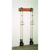 Rehabilitation: Fabrication Enterprises - Chest Weight Pulley System - Single Handle (Mid) - Two Towers - 10 x 2.2 lb. Weights