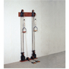 Rehabilitation: Fabrication Enterprises - Chest Weight Pulley System - Dual Handle (Lower, Mid) - Two Towers - 10 X 2.2 Lb Weights