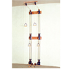 Rehabilitation: Fabrication Enterprises - Chest Weight Pulley System - Triplex Handle (Lower, Mid, Upper) - Two Towers - 10 X 2.2 Lb Weights