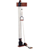 Rehabilitation: Fabrication Enterprises - Chest Weight Pulley System - Dual Handle (Lower, Mid) - One Tower - 5 x 2.2 lb. Weights