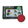"Rehabilitation: Fabrication Enterprises - CanDo® Memory Foam Squeeze Ball - 3.0"" Diameter - Red, Easy"