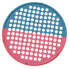 "Rehabilitation: Fabrication Enterprises - CanDo® Hand Exercise Web - Low Powder - 14"" Diameter - Multi-Resistance, Red/Blue"