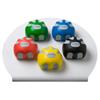 Rehabilitation: Fabrication Enterprises - CanDo® Digi-Squeeze® Hand Exerciser - Medium - Set of 5 Pieces (Yellow, Red, Green, Blue, Black), with Rack