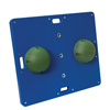 Fabrication Enterprises CanDo® Balance Board Combo™ 15 x 18 Wobble/Rocker Board - 2 Height - Green FNT 10-2032