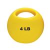 Fabrication Enterprises CanDo® One Handle Medicine Ball - 4 lb. - Yellow FNT 10-3291