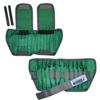 Rehabilitation: Fabrication Enterprises - The Adjustable Cuff® Ankle Weight - 5 lb. - 10 x 0.5 lb. Inserts - Green - Pair