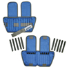 Rehabilitation: Fabrication Enterprises - The Adjustable Cuff® Ankle Weight - 10 lb. - 20 x 0.5 lb. Inserts - Blue - Pair
