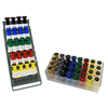 Rehabilitation: Fabrication Enterprises - Digi-Flex Multi Large Clinic Pack, Deluxe (5 Pre-Built Multis Plus 32 Button Set w/Rack)
